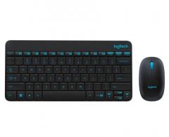 罗技(Logitech)无线键鼠套装 MK245 Nano 无线鼠标无线键盘套装 MK245黑蓝 PJ.048