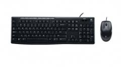 罗技(Logitech) MK200 有线键盘鼠标套装 USB电脑多媒体键盘鼠标套装 货号100.SQ1100