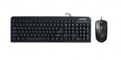 联想 (lenovo)KM4800 联想键盘鼠标套装(FBL322升级版) 防水耐磨 办公游戏键鼠套装 黑色 货号100.SQ1114