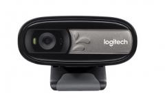 罗技(Logitech)C170 网络摄像头 黑色 多人通话 网络课程 远程教育 货号100.SQ1198