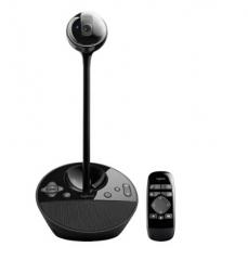 罗技(Logitech)BCC950 商务高清会议视频摄像头 才艺主播摄像头 遥控远程操作摄像头 黑色 货号100.SQ1200