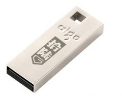 爱国者(aigo)U200 16G 金属U盘 mini便携 银色 货号100.SQ1299
