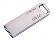 东芝(TOSHIBA)THN-U363S0640C4 64G 随闪U363 金属U盘 USB 3.0 银色 读速120MB/s 货号100.SQ1312