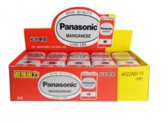 松下(Panasonic)9V碳性方形干电池10节适用于万用表遥控器话筒报警器玩具6F22ND/1S盒装 货号100.SQ1351