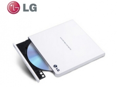 LG 8倍速USB2.0外置DVD光驱刻录机(兼容win8和MAC操作系统) 白色 GP65NW60 货号100.SQ1429