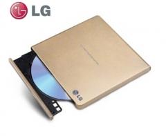 LG 8倍速USB2.0外置DVD光驱刻录机(兼容win8和MAC操作系统) 玫瑰金 GP65NG60 货号100.SQ1430