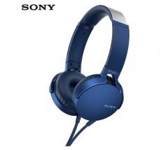 索尼(SONY)MDR-XB550AP 重低音立体声耳机 头戴式 蓝色 货号100.SQ1445