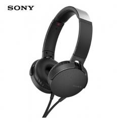 索尼(SONY)MDR-XB550AP 重低音立体声耳机 头戴式 黑色 货号100.SQ1446