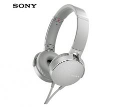 索尼(SONY)MDR-XB550AP 重低音立体声耳机 头戴式 灰白色 货号100.SQ1447