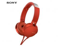 索尼(SONY)MDR-XB550AP 重低音立体声耳机 头戴式 红色 货号100.SQ1448