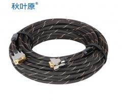 秋叶原(CHOSEAL) HS0005 秋叶原VGA(3+6)带屏蔽网带磁环15米线 货号100.SQ1507