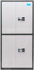 国保保密柜SWK2990保密文件柜上下四门四层两抽 灰黑双色 货号100.JM710