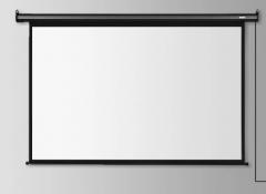 得力50493电动投影幕120英寸4;3挂墙悬挂电影幕布货号100.HW901