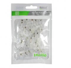 海乐(Haile)HT-4P4C-50 高品质4P4C电话机水晶头 4芯话筒水晶头 电话手柄接头(50个/袋) 货号100.S1659