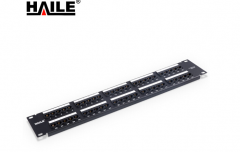 海乐(Haile)HT-R1-50 50口工程级语音配线架 1U机架式电话配线架 跳线架 货号100.S1660