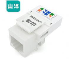 山泽(SAMZHE)电话语音工程级模块 RJ11打线式电话4芯镀金通信插座 CAT3电话线面板 (十只) DHMK10X 货号100.S1663