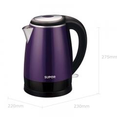 苏泊尔 SWF17E18C 电水壶 1.7L 紫色 双层防烫    货号100.hx