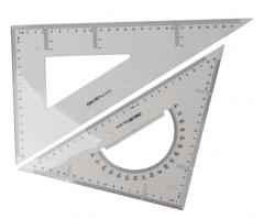 得力(deli)6430 塑料三角尺(直角直尺+等腰三角形直尺) JX.022