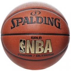 斯伯丁Spalding篮球NBA金色经典7号比赛耐磨防滑PU 蓝球 74-606Y 货号160.SBD-Q