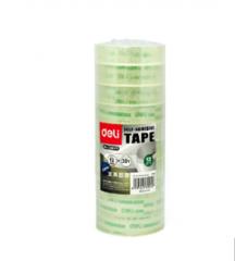 得力(deli) 小卷胶带 透明  30015(宽12mm 12卷/筒) 货号160.DL-S