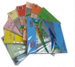 现货隔日达 旗舰彩色复印纸 A4-80G-100张/包-5包装-彩色  货号160.QJ-S 淡蓝色 100张/包