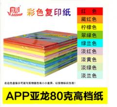 现货隔日达  旗舰彩色复印纸 A4-80G-100张/包-10包装-彩色 (一组10种颜色)货号160.QJ-S