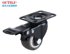 1.5英寸聚氨脂脚轮 橡胶重型万向轮 单个载重50公斤 带刹车片(非现货7日达) 货号160.WJ-Q车工业轮 家具轮