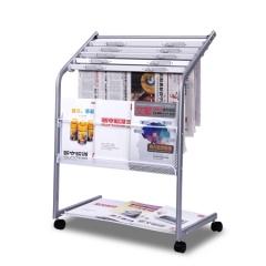 得力  9302  铝合金报纸架报刊架 展示架 (2个/组) 货号160.DL-L
