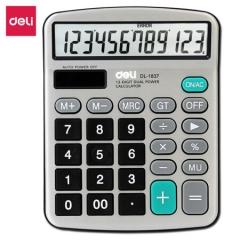 得力 1837 金属面板桌上型计算器 152.8*120*29mm  货号160.WJJ