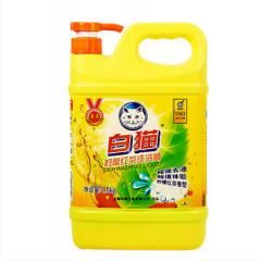 WG白猫洗洁精 高效 去油 洗洁精2KG  8桶/件