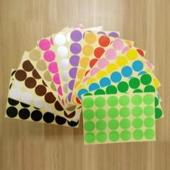 WG彩色圆点标记标签12张/包