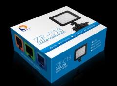 现货次日达  致峰ZF-C18 LED摄像灯单反微电影摄像机全彩摄影灯300种颜色  货号230.F240