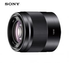 索尼(SONY)E 50mm F1.8 OSS (银色)  APS-C画幅定焦镜头  货号230.F413