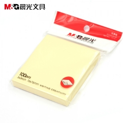 晨光便利贴76*76mm100张黄色便条纸记事贴YS-03 20本货号:003.BQ